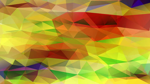 wow effect conceptual design crafted with size triangular pieces assembled together creating Animation