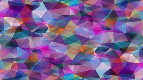 striking abstract mosaic with geometric 3d hexagons and pyramid forms created with small triangles Animation