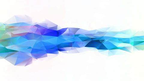 futuristic 3d polygon geometric figure with crumpled paper like texture and brilliant colors Animation
