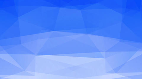 blue abstraction figure becoming a white polygon and hexagon form like freeze melting in fluid Animation