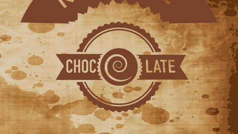 rounded of natural drink goods with a swirl replacement letter o in the word brown Animation