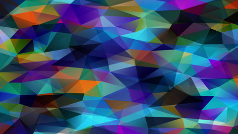 3d polygon design similar towards mini scale prisma pyramids forming a polychrome channel of Animation