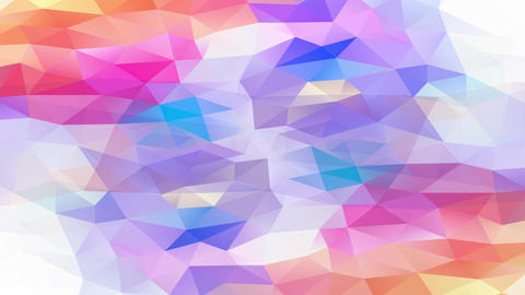 shiny multicolored visible art concept composed by size triangles and polygons sharing a 3d effect Animation