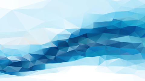 abstract conceptual background with blue geometric triangles making peaks similar to diamonds Animation