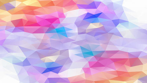 bright colorful visible art concept composed by miniature triangles and polygons giving a 3d effect Animation