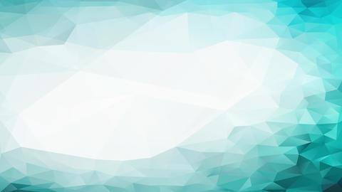 conceptual shape mosaic 3d polygon figure with reliefs resembling frozen liquid move around a melt Animation