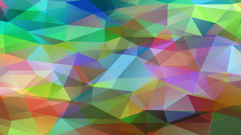 multicoloured polygon patchwork with miniature 3d triangles forming a bright geometrical collage Animation