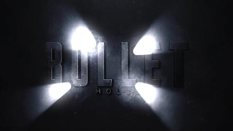 Bullet Holes Logo or Title Intro After Effects Template