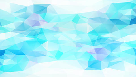 conceptual geometrical triangles with shinny white and blue tones and 3d effect resembling a frosty Animation