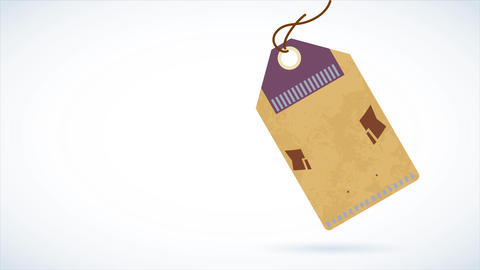 textil style cardboard of a coffee product marked with a text using different typography Animation