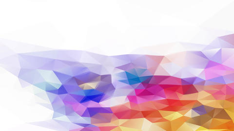 bright colorful visual art concept composed by small triangles and polygons giving a 3d effect Animation