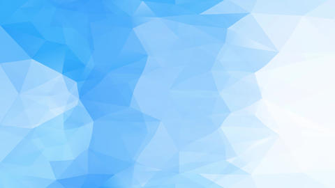 jumbled abstract polygon figure combining light and dark blue triangles similar to an iced waterfall Animation