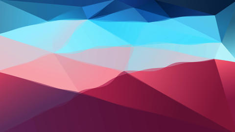 aerial point of view of an abstract figure composed of 3d triangle and polygon forms Animation