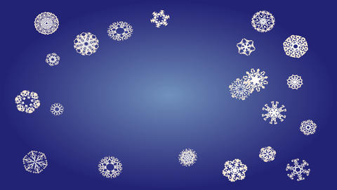 merry christmas concept art animation with dozens of snowflakes with unique designs appearing from Animation