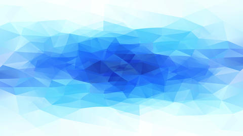 abstract triangles with 3d reliefs resembling a natural deep blue ice pool surrounded by white snow Animation