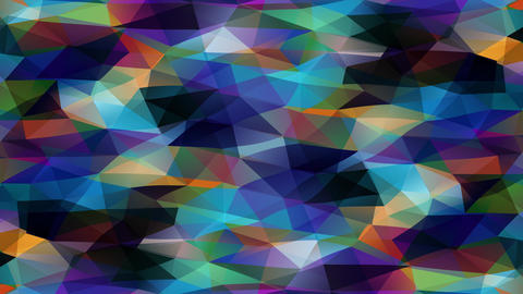 3d polygon design similar to small scale prisma pyramids creating a polychrome stream of geometric Animation