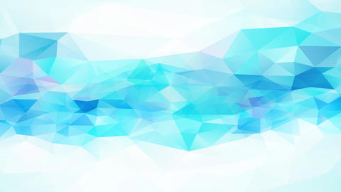 abstraction geometrical triangles with shinny white and blue tones and 3d effect resembling a frosty Animation