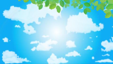 1日の空の背景 アニメーション CG動画