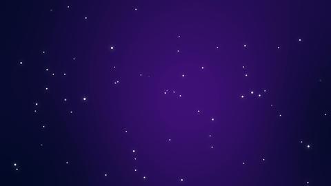 Purple night sky with animated stars Animation