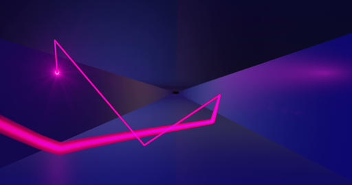Seamless Looped Abstract Animation of Lines Through the Tunnel Live Action