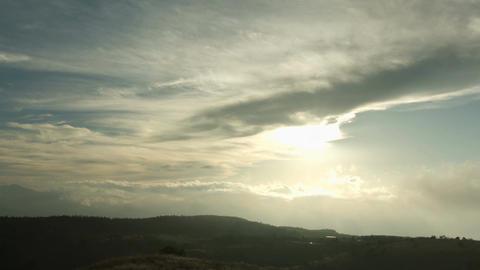 Sunset of Takabocchikogen wide angle Footage
