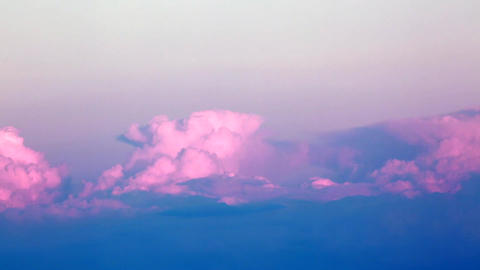 Timelapse of Pink Clouds at Sunset Footage