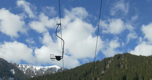 Chair lift in the Alps Footage