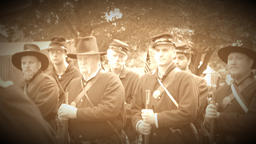 Civil War soldiers receiving orders (Archive Footage Version) Live Action