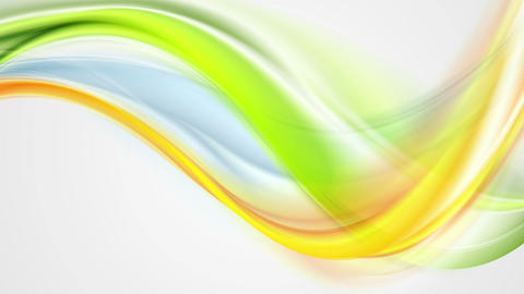 Colorful smooth flowing waves animated background Animation