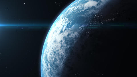 Futuristic Planet Earth Rotation Animation Animation