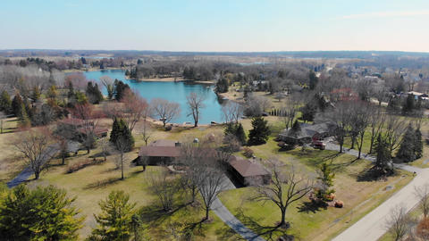 Flight over the fabulous Park in the state of Illinois USA. Park areas in the Live Action