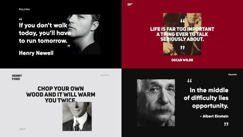 Quotes Titles Apple Motion Template