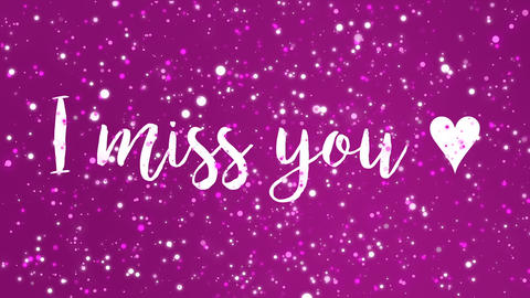 Sparkly purple pink I miss you card CG動画