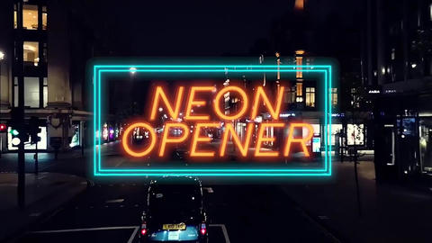Neon Titles Promo Motion Graphics Template