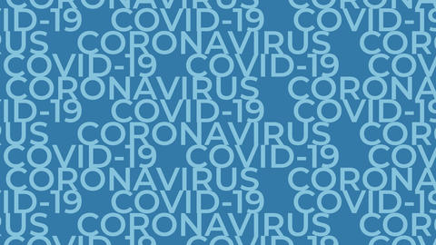 Animated words coronavirus COVID-19 loop animation Animation