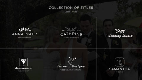 Wedding Logo & Titles Apple Motion Template