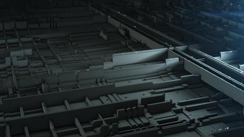Sci Fi Industrial Panel. Futuristic Concept Design Animation