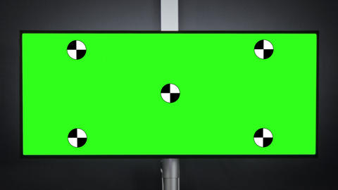 Zoom out on green screen professional desktop Live Action