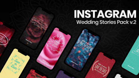 Wedding Instagram Stories v2 After Effectsテンプレート