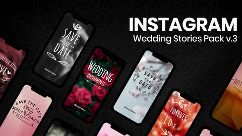 Wedding Instagram Stories v3 After Effectsテンプレート