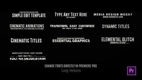 24 Glitch Titles // MOGRT // Premiere Pro Motion Graphics Template