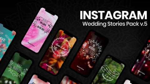 Wedding Instagram Stories v5 After Effectsテンプレート