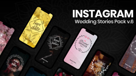 Wedding Instagram Stories v6 After Effectsテンプレート