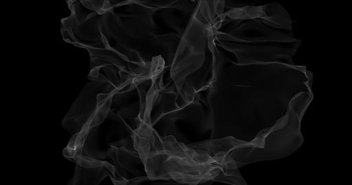 Floating white smoke on black background. Dry ice smoke fog Abstract smoke Animation
