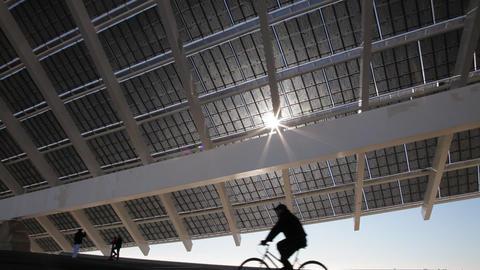 Large solar panel Footage