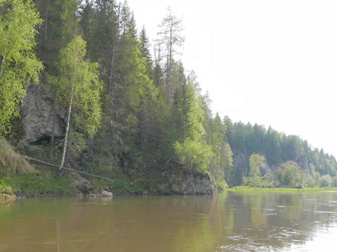 Sunny day. The river Serga, Russia Footage