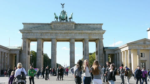 The Brandenburg gate Footage