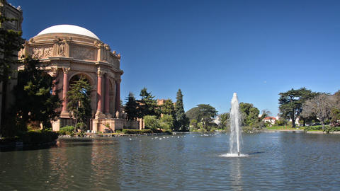 Palace of Fine Arts in San Francisco Footage