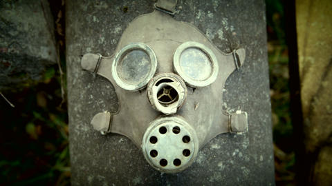 Gas mask zoom in Footage