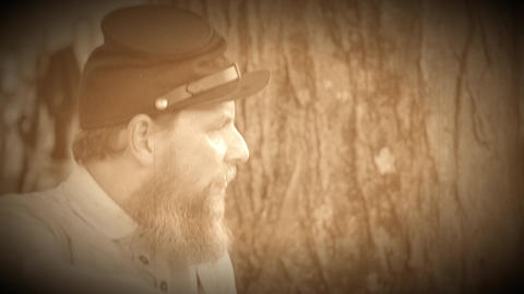 Profile of a Civil War soldier (Archive Footage Version) Live Action
